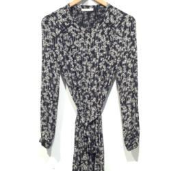 Sessun robe imprime Chilca noir/blanc whiblack