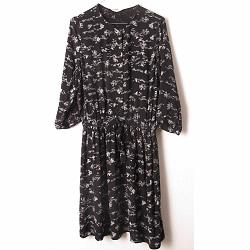 Sessun robe Lea noir/blc imprime Himeji