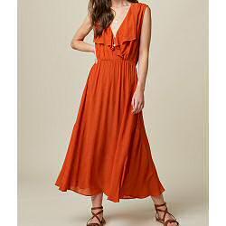 Sessun robe rouge Mira mandarin red