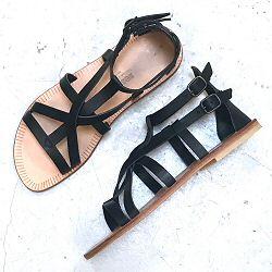 Sessùn sandales cuir noir Hemera black