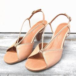 Sessun sandale cuir chair Inca cuba/oro