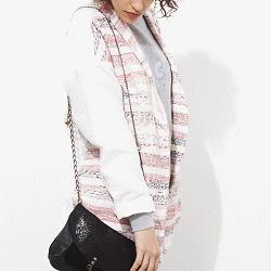 Sessùn veste oversize Morelia rose/rouge