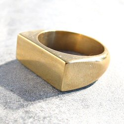 Soko bague Band laiton brut recycle