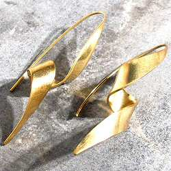 Soko boucles Ribbon laiton brut recycle