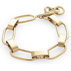 Soko bracelet Capsule chaine laiton recycle plaque or gp