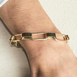 Soko bracelet homme Capsule chaine laiton recycle plaque or gp