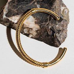 Soko bracelet Uzi laiton recycle plaque or gp