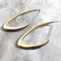 Soko boucles Tulla Outline laiton recycle plaque or gp