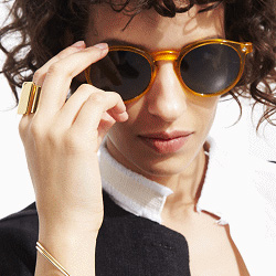 Spitfire lunettes de soleil Flex jaune
