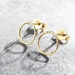 Stalactite bijoux baby Circle or jaune 18k