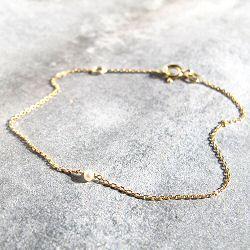 Stalactite Or 18k bracelet Mini perle de nacre or jaune