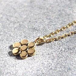 Stalactite Or 18k collier fleur Petite anna or jaune