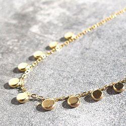 Stalactite bijoux collier Mini pastilles or jaune 18k