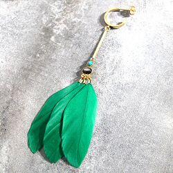 Stalactite boucle solo plume Jungle Vert