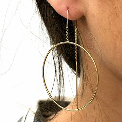 Stalactite boucles creoles Bulle vermeil made in France