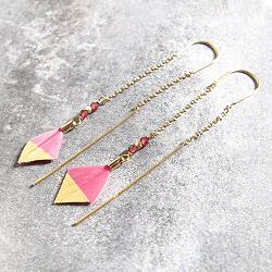 Stalactite boucles plume River Parrot rose maryline