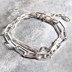 Stalactite bracelet chaine forcat Twiggy argent 925