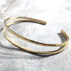 Stalactite bracelet jonc vermeil martelle Jane