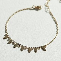Stalactite bracelet Narcisse plaque or 3 microns