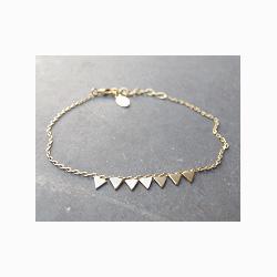 Bracelet triangles doré Stalactite paris
