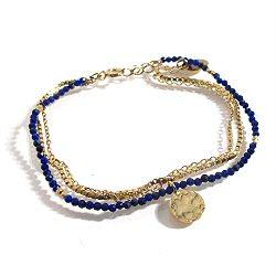 Stalactite bracelet Lapis lazuli Valentine vermeil
