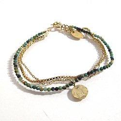 Stalactite bracelet Turquoise Valentine vermeil