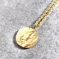 Stalactite collier Alma medaille vermeil
