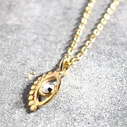Stalactite collier Eye mini vermeil