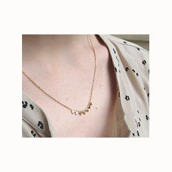 Collier triangles doré Stalactite bijoux paris