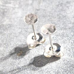 Stalactite studs mini sequin martelle argent made in France