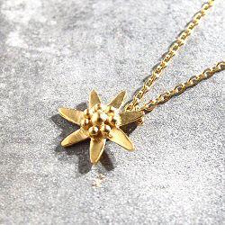 Stalactite collier fleur Edelweiss vermeil