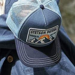 Stetson casquette Trucker cap Patrol vintage bleu