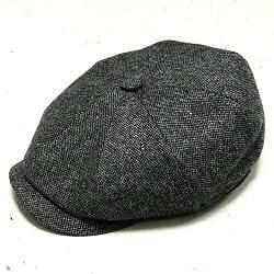 Stetson casquette homme Haterras laine grise