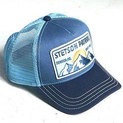 Stetson casquette Trucker Homme cap Patrol vintage bleu