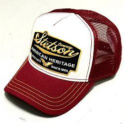 Stetson casquette homme Trucker cap Heritage bordeaux