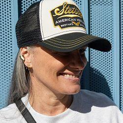 Stetson casquette Trucker cap Heritage noir jaune
