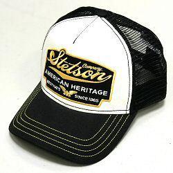 Stetson casquette homme Trucker cap Heritage noir jaune