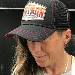 Stetson casquette Trucker cap Heritage noir orange