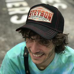 Stetson casquette homme Trucker cap Heritage noir orange