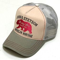 Stetson casquette Trucker cap Bear beige bordeaux