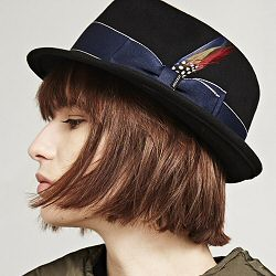 Stetson chapeau femme Boston Wolf noir