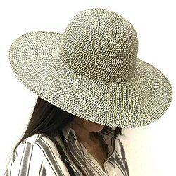 Stetson chapeau capeline Femme ete noir blanc