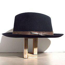 Stetson chapeau homme Fedora noir feutre furflet galon cuir