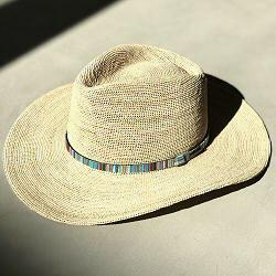 Stetson chapeau Formentera Western crochet raffia