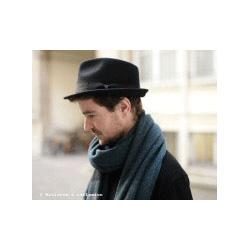 Stetson chapeau trilby homme noir plume galon noir Richmond