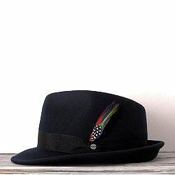 Stetson chapeau trilby homme bleu marine Elkader