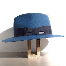 Stetson chapeau Iona bleu feutre de poil furfelt