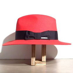 Stetson chapeau femme Iona rouge feutre poil de lapin