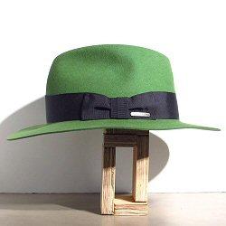Stetson chapeau Iona vert galon noir