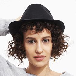 Stetson chapeau noir en lin Geneva